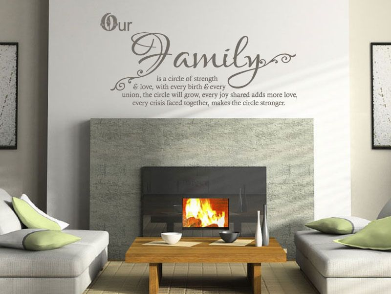 Family Wall Quote Our Family Wall Art Sticker Vinyl Transfer Decal